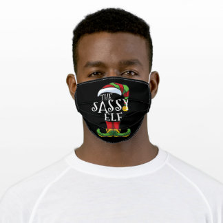 Sassy Elf Family Matching Christmas Adult Cloth Face Mask