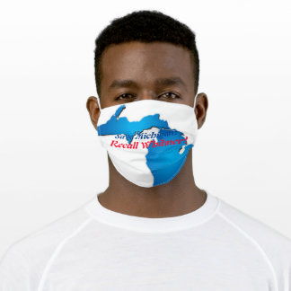 Save Michigan, Recall Whitmer face mask! Adult Cloth Face Mask