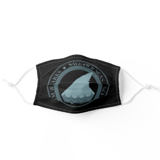 save our sharks no fin soup adult cloth face mask