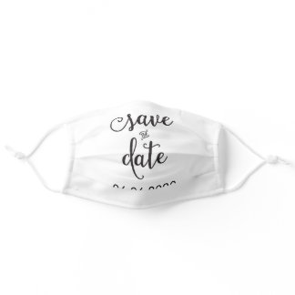 Save The Date Face Mask