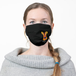 Save the Kangaroos Respect the Locals Adult Cloth Face Mask