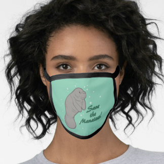 Save the Manatees! Face Mask
