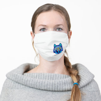 Save the Wolves Respect the Locals Adult Cloth Face Mask