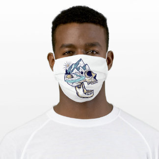 Scary nature adult cloth face mask