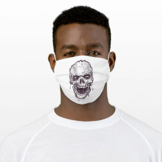Scary skull adult cloth face mask