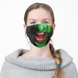 Scary Witch Halloween Adult Cloth Face Mask
