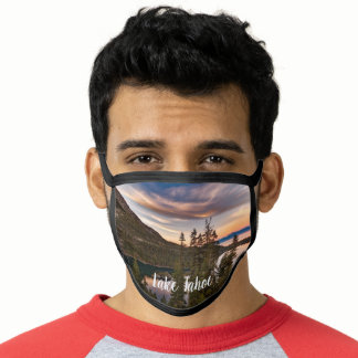 Scenic Lake Tahoe Sunset Face Mask