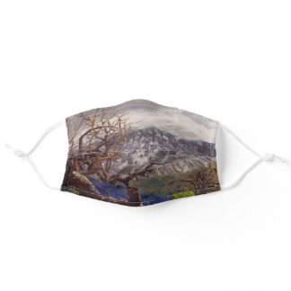 Scenic Mountain Trail View from Moab Utah Adult Cloth Face Mask