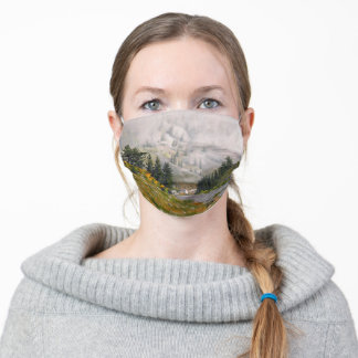 Scenic Taylor River Colorado Painting Adult Cloth Face Mask