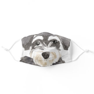 Schnauzer Dog Big Adult Cloth Face Mask