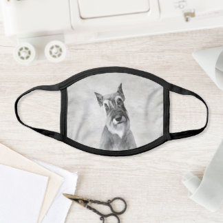Schnauzer (Giant) - Cute Original Dog Art Face Mask