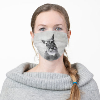 Schnauzer (Giant) Painting - Dog Art Adult Cloth Face Mask
