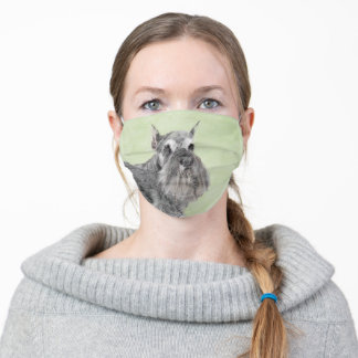 Schnauzer (Giant, Standard) Painting - Dog Art Adult Cloth Face Mask
