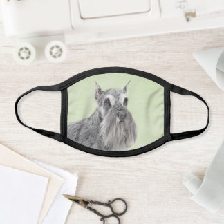 Schnauzer (Giant, Standard)  Painting - Dog Art Face Mask