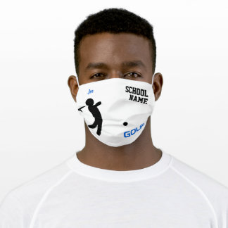 School Sports Golf, Personalized Adult Cloth Face Mask