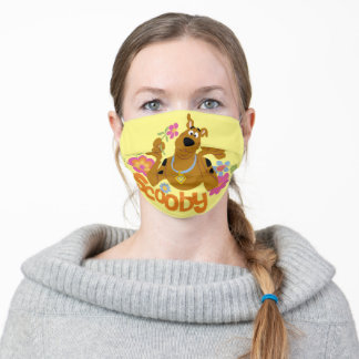 Scooby-Doo In Flowers Adult Cloth Face Mask