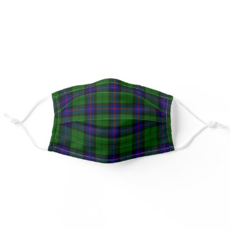 Scottish Clan Armstrong Tartan Plaid Pattern Adult Cloth Face Mask