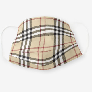 Scottish Clan Burberry Check Tartan Plaid Pattern Adult Cloth Face Mask