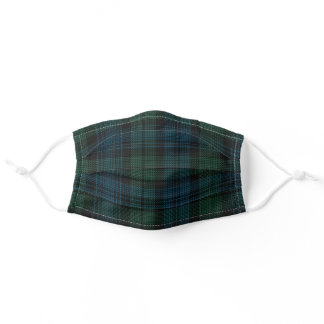 Scottish Clan Campbell Tartan Plaid Pattern Adult Cloth Face Mask