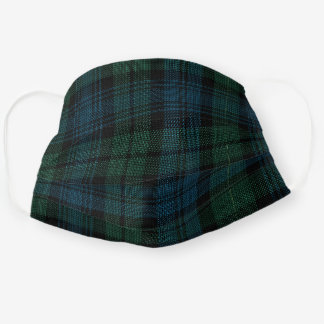 Scottish Clan Campbell Tartan Plaid Pattern Cloth Face Mask