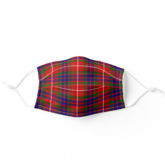 Scottish Clan Fraser Tartan Plaid Pattern Adult Cloth Face Mask