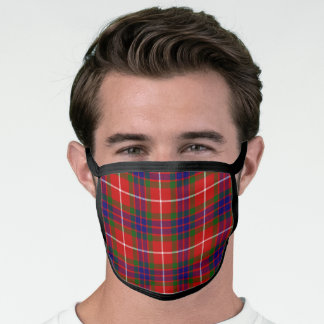 Scottish Clan Fraser Tartan Plaid Pattern Face Mask