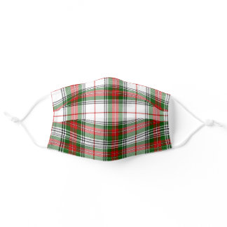 Scottish Clan House of Stuart Stewart Tartan Plaid Adult Cloth Face Mask