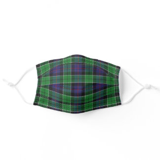 Scottish Clan Leslie Hunting Tartan Plaid Adult Cloth Face Mask
