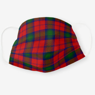 Scottish Clan Lindsay Tartan Plaid Pattern Cloth Face Mask
