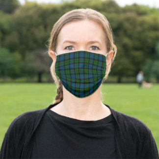 Scottish Clan MacKay Modern Tartan Plaid Adult Cloth Face Mask
