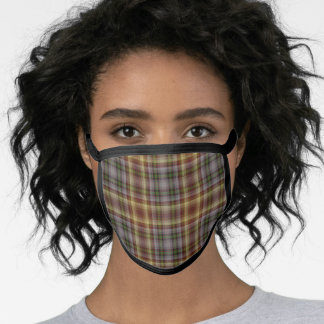 Scottish Clan MacKay of Strathnaver Tartan Plaid Face Mask