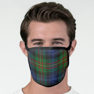 Scottish Clan MacLaren Tartan Plaid Pattern Face Mask