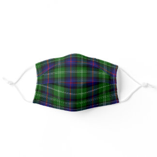 Scottish Clan Sutherland Tartan Plaid Pattern Adult Cloth Face Mask