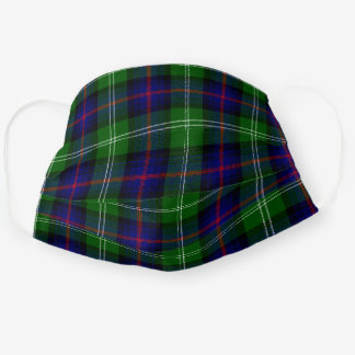 Scottish Clan Sutherland Tartan Plaid Pattern Cloth Face Mask