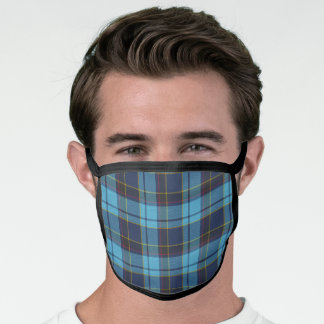 Scottish Clan US Air Force Reserve Pipe Tartan Face Mask