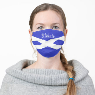 Scottish Flag Fask Adult Cloth Face Mask