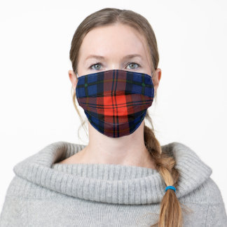Scottish MacLachlan clan blue and red tartan Adult Cloth Face Mask