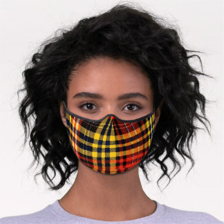 Scottish Ogilvie clan tartan Premium Face Mask