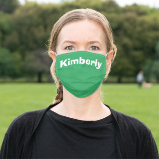 Sea Green Personalized Name Cloth Face Mask