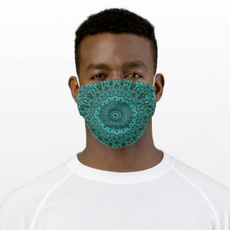 Sea Green Sundial Adult Cloth Face Mask