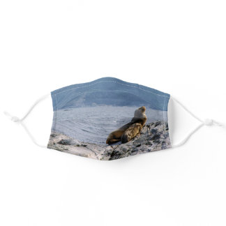 Sea lions in beagle channel - Argentina Adult Cloth Face Mask