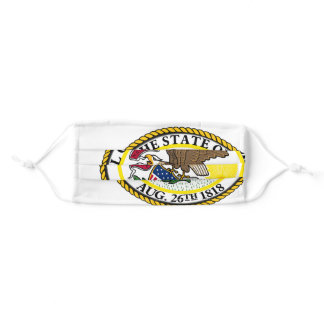 Seal of the State of Illinois Flags of the World Adult Cloth Face Mask