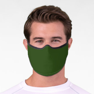 Seaweed (solid color)  Premium Face Mask