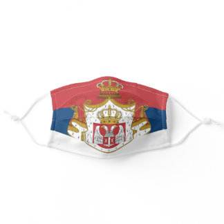 Serbia flag adult cloth face mask