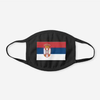 Serbia Flag Cotton Face Mask