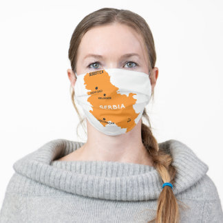 Serbia Map Adult Cloth Face Mask
