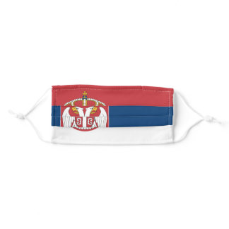 Serbian Flag Adult Cloth Face Mask