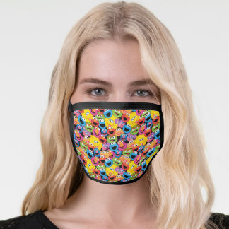 Sesame Street Character Faces Pattern Face Mask
