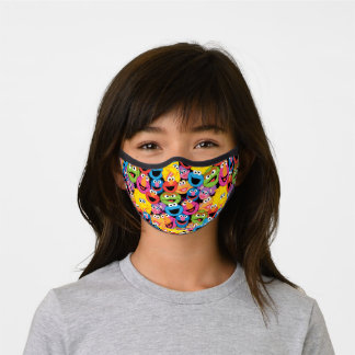 Sesame Street Character Faces Pattern Premium Face Mask