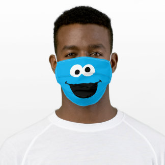 Sesame Street Cookie Monster Face Adult Cloth Face Mask